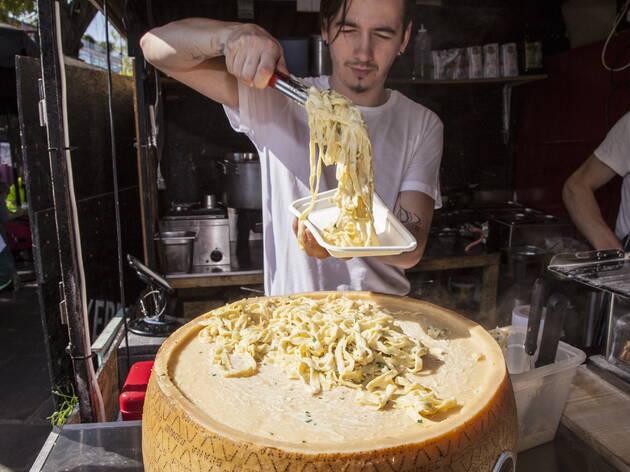 Fettuccine Alfredo The Cheese Wheel