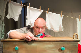 Kevin Lewis in 'Baby Show' at Unicorn Theatre