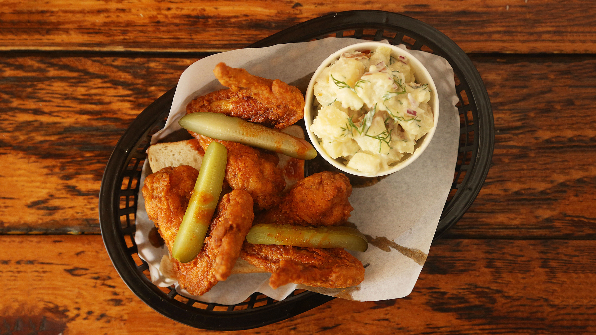 F***ing Hot chicken wings and sides at Belles hot chicken