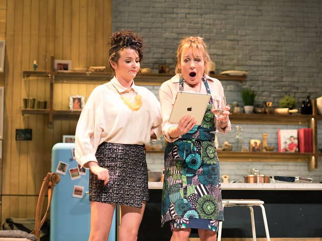 Caroline Langrishe and Jasmyn Banks in CAROLINE'S KITCHEN