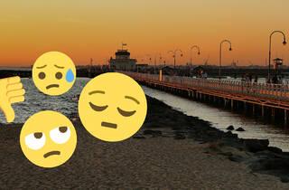 Sad emojis, St kilda beach