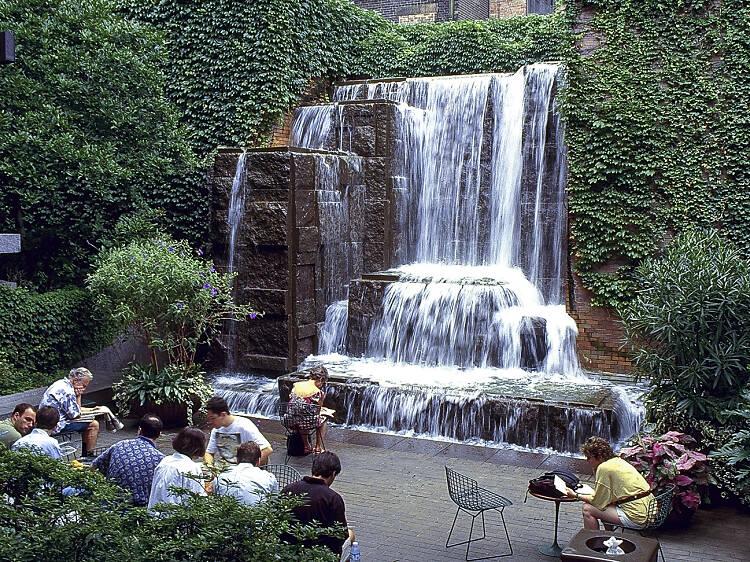 Greenacre Park's waterfall