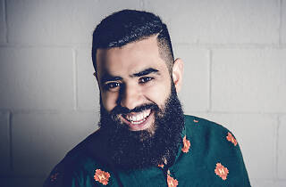 Press shot of comedian Pax Assadi