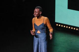 Moreblessing Maturure at a TED confernece.