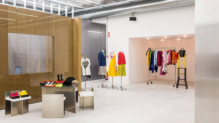 Compras, loja, Tem-plate, moda de luxo