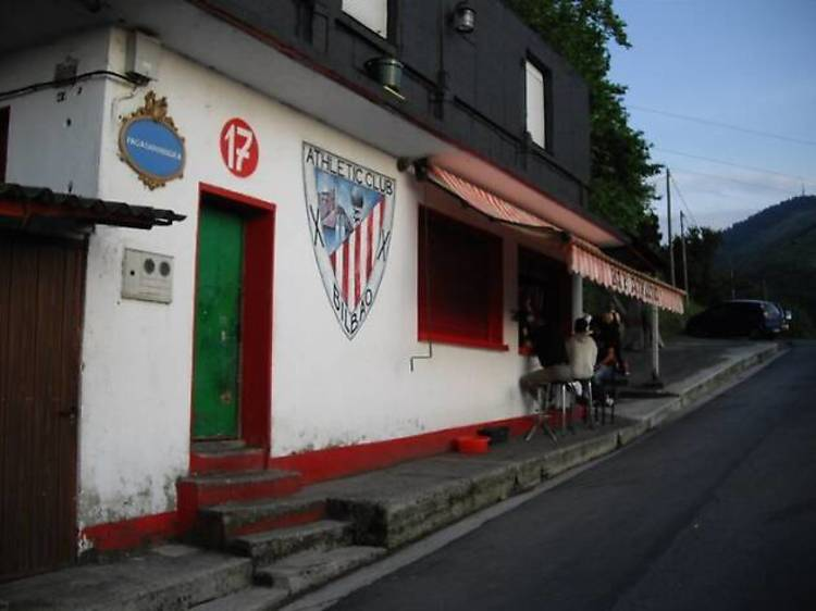 El bar Athletic en el monte Pagasarri