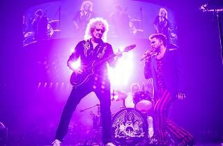 Queen and Adam Lambert on stage