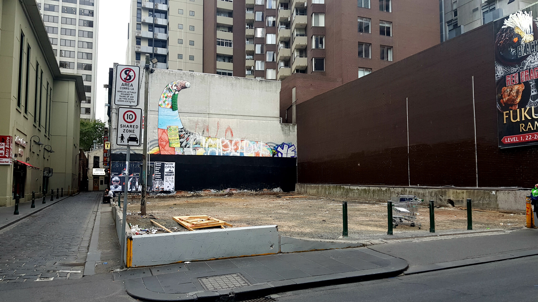 Vacant block at 132 Little Bourke Street