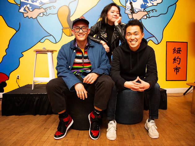 Mic Nguyen, DJ VickiVibe and Fumi Abe
