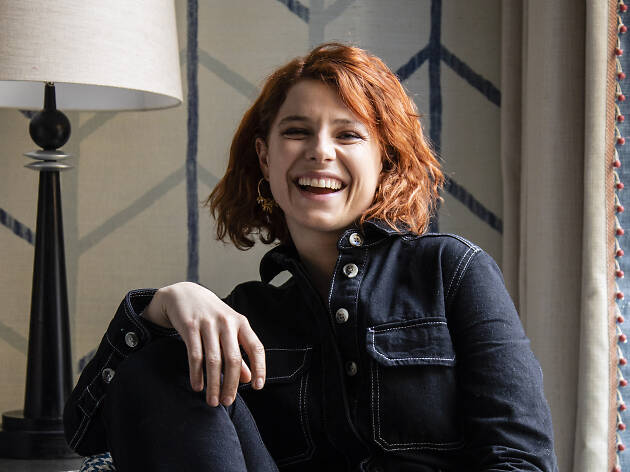 A portrait of the actor Jessie Buckley