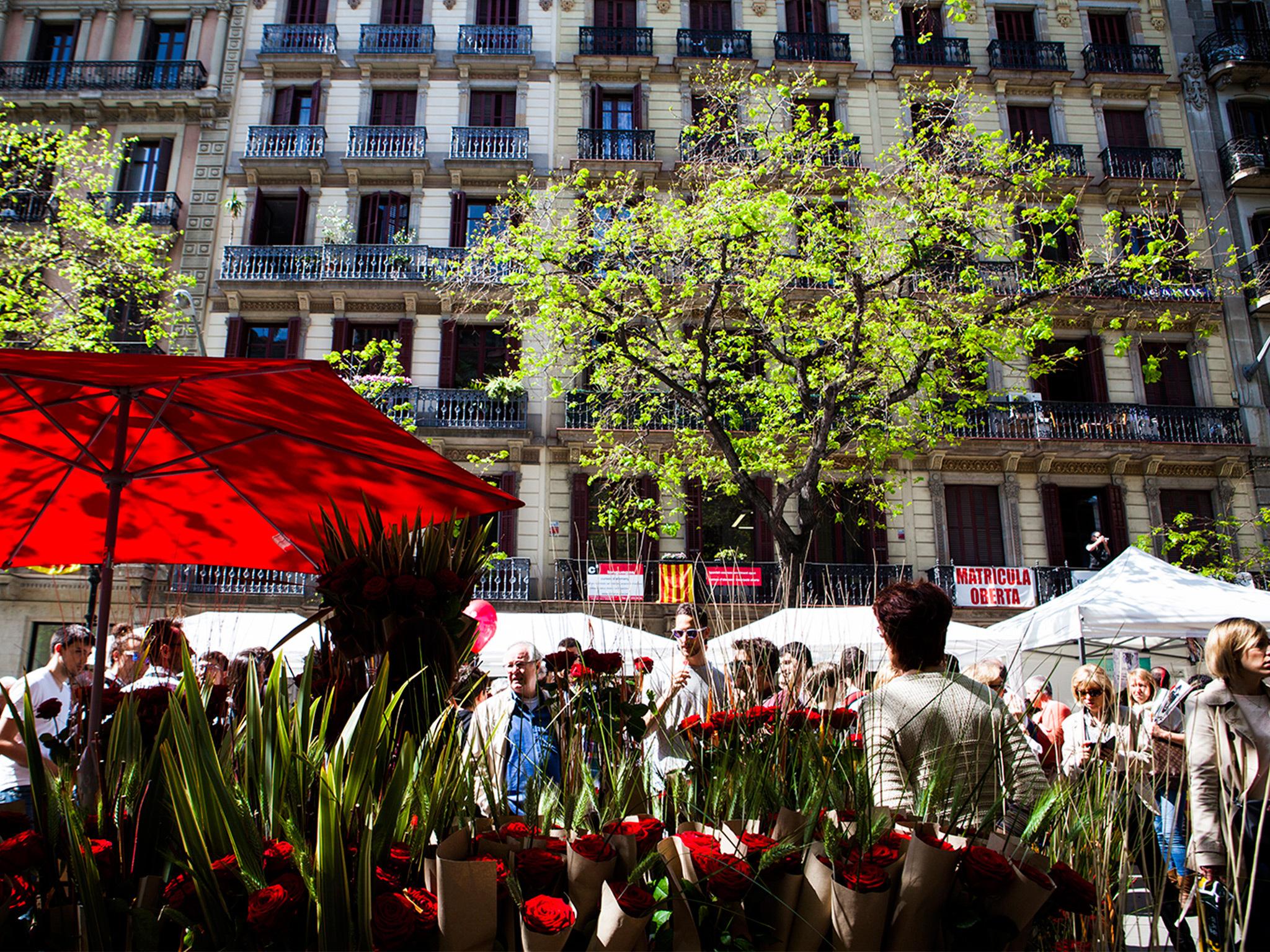 Planes para celebrar Sant Jordi en Barcelona