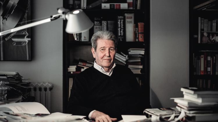 Jorge Herralde al seu despatx d'Anagrama