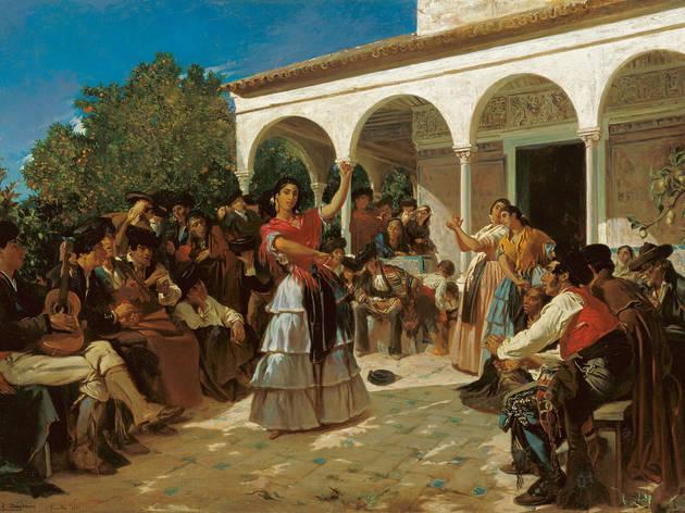 Dança cigana nos jardins do Alcázar
