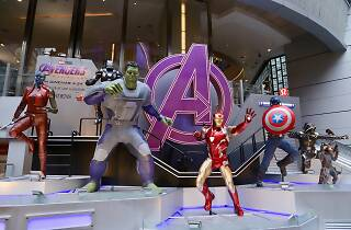 avengers: end game mall display