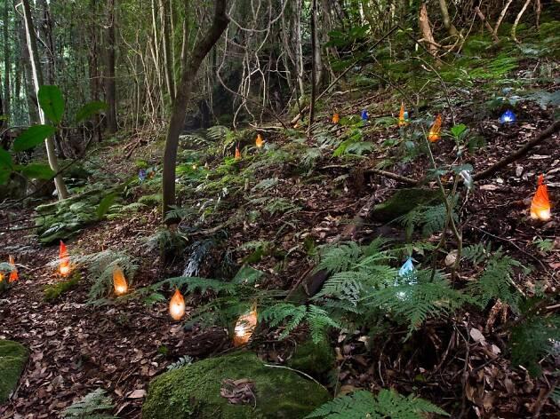 Kayo Yokoyama, 'Kitsunebi/Foxfires' Sculpture at Scenic World