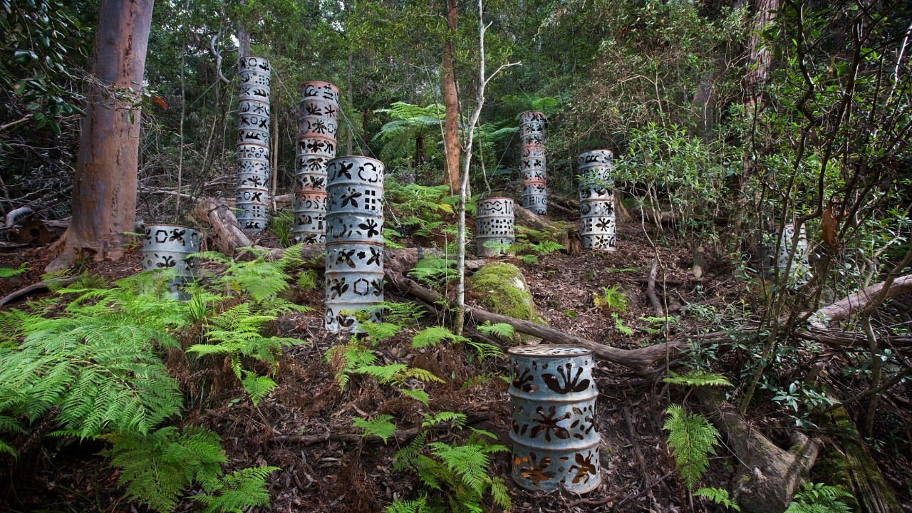 Heidi McGeoch, 'Iron Clad' Sculpture at Scenic world