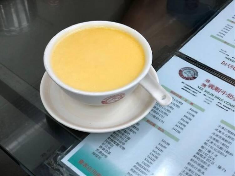 Steamed egg pudding at Yee Shun