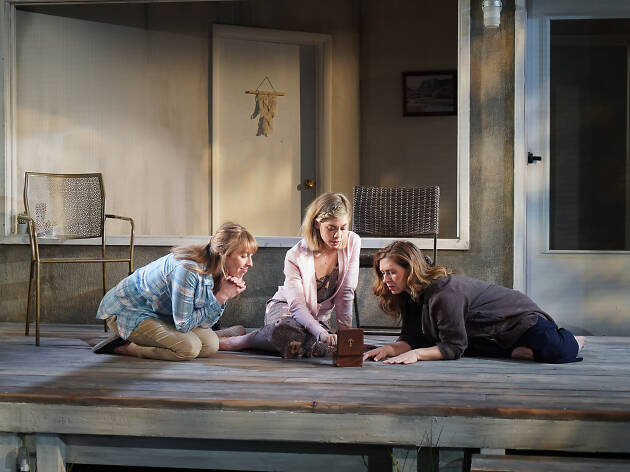 Crystal Finn, Susannah Flood and Miriam Silverman in the 2019 Clubbed Thumb production of PLANO