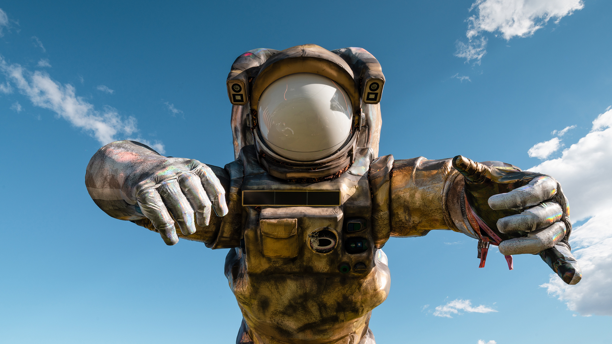The big astronaut is back to hover over Coachella—and it's looking a little burnt out