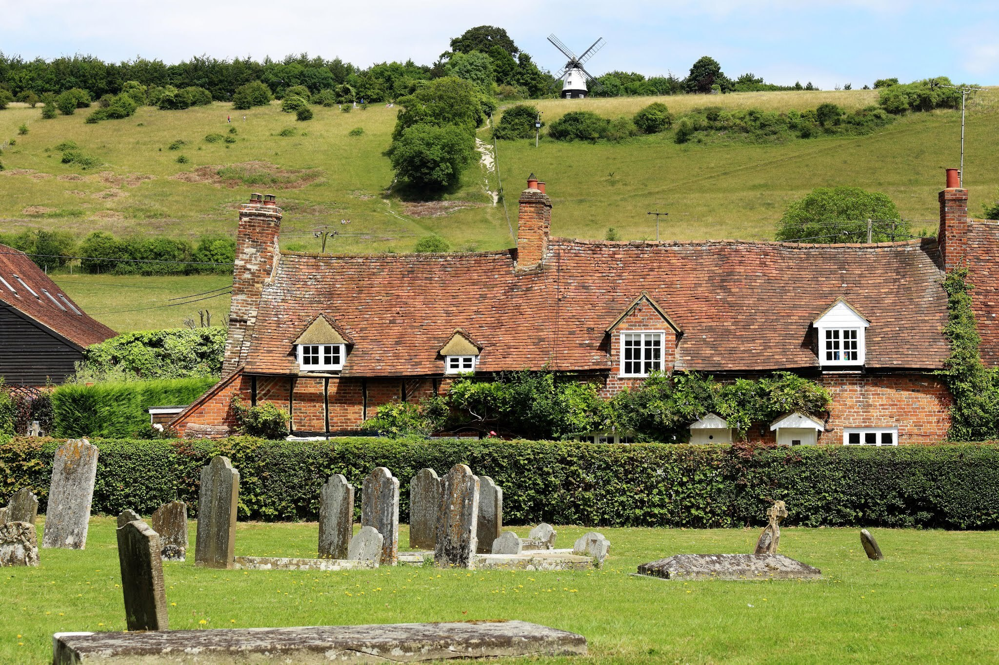 the churchyard in Turville Village in the Chiltern Hills