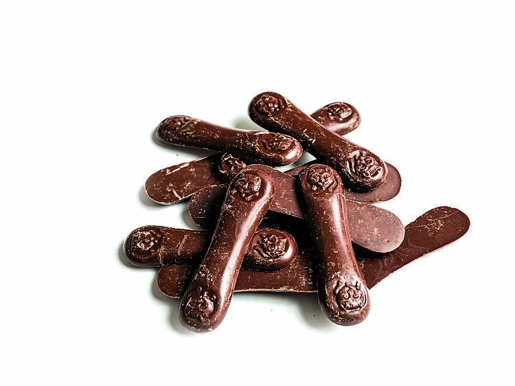 Línguas de gato de chocolate da Arcádia