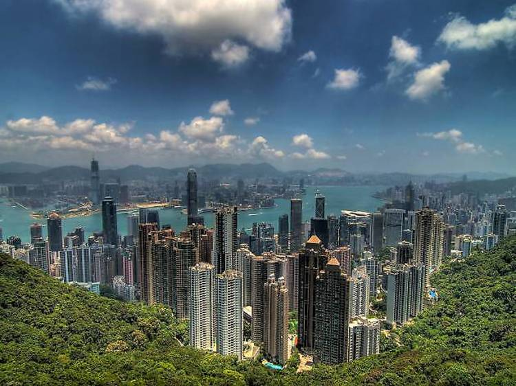 香港:香港島でも最も高い位置