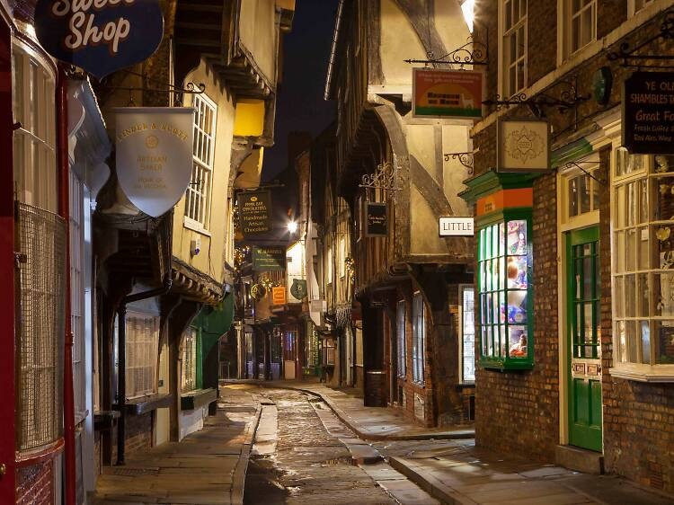 Wander down a medieval thoroughfare in York