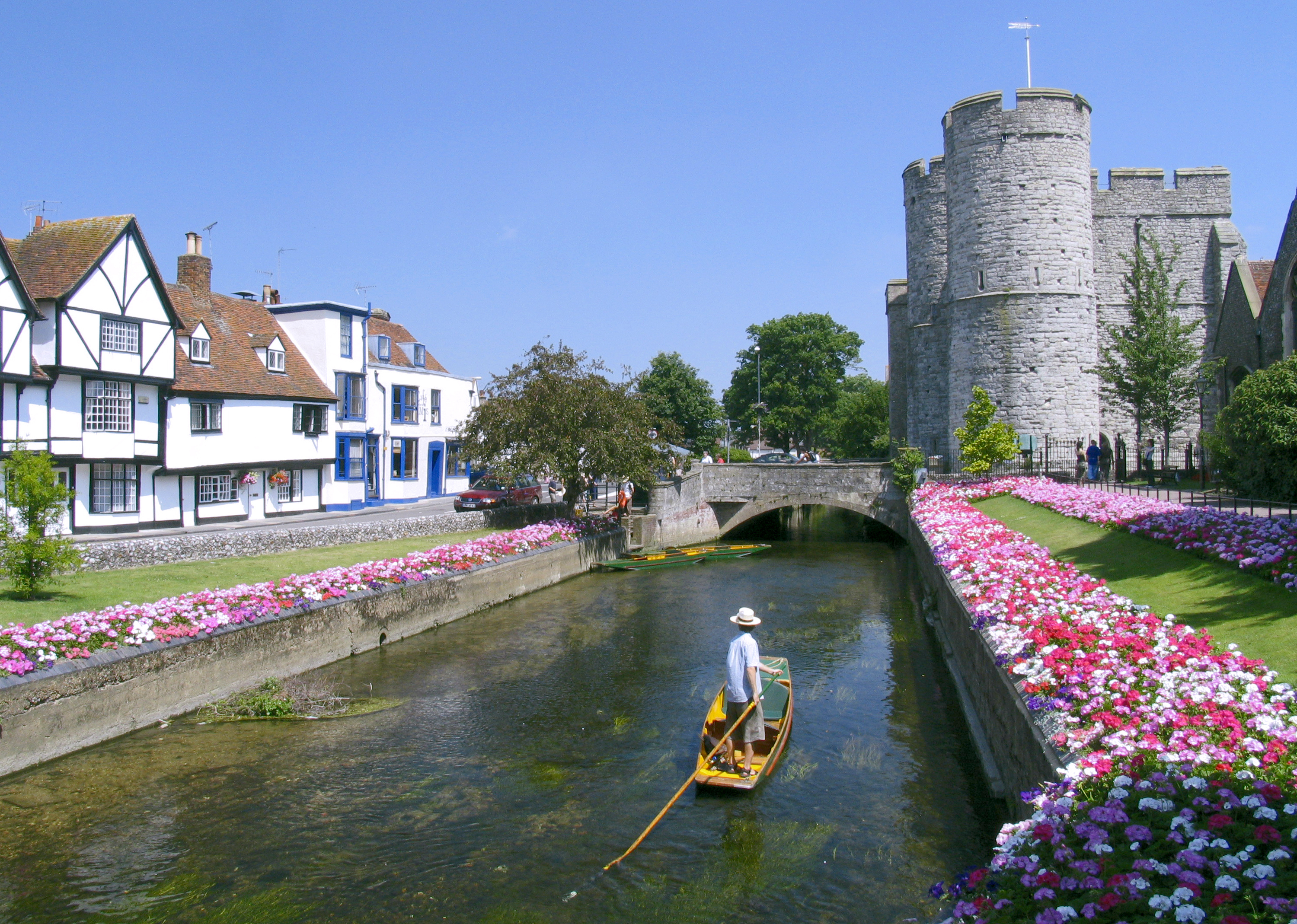 Boat on the River Stour, Canterbury,