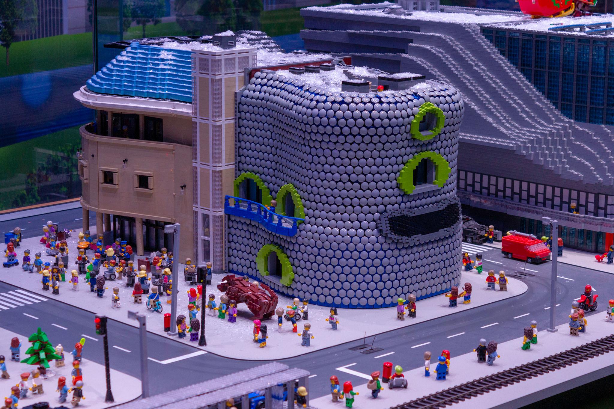 A lego building