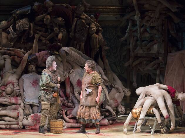 Nathan Lane and Kristine Nielsen in Gary: A Sequel to Titus Andronicus