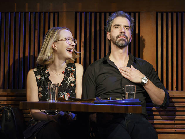Halley Feiffer and Hamish Linklater in The Pain of My Belligerence