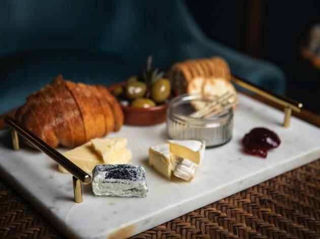 Cheese board at at Dulcie's