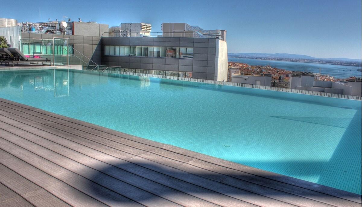 piscinas panorâmicas