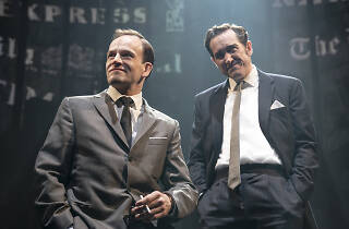Bertie Carvel and Jonny Lee Miller in Ink