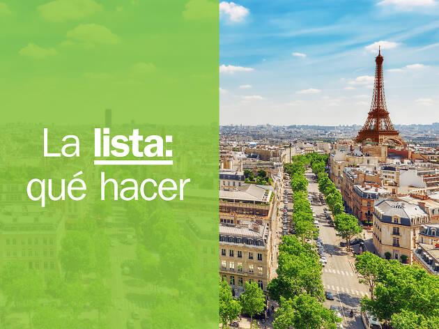 Cosas que hacer París
