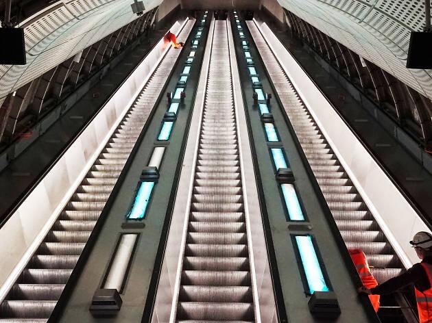 Crossrail: Whitechapel station construction progress, April 2019