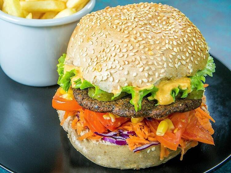 Vege burgers at Green Point