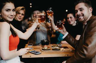 People enjoying beer at Burnley Brewing Decathlon