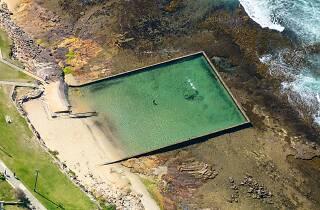 Aerial image of ocean pool at Shelly Beach, Cronulla