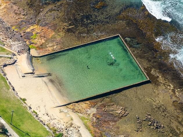 Aerial image of ocean pool at Shelly Beach, Cronulla