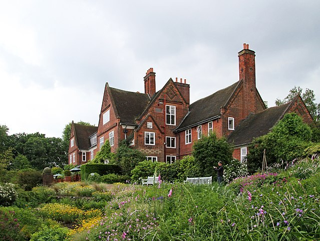 The garden and house in Edgbaston