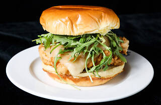 Chicken sandwich at Kush