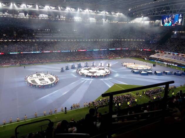 Inauguració de la final de la Champions League de futbol de 2017 a Cardiff