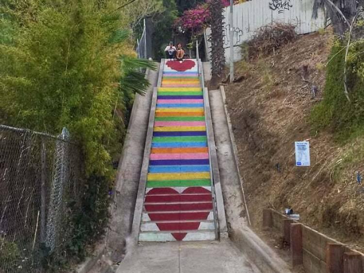 Sube por las escaleras del Silver Lake