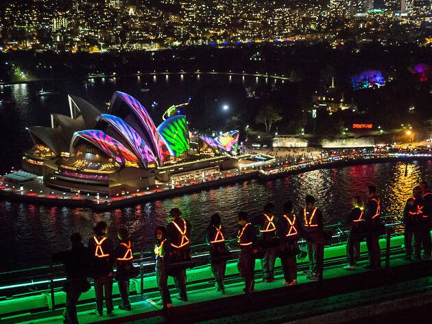 Win a double pass to experience Vivid Sydney from the top of the Sydney Harbour Bridge