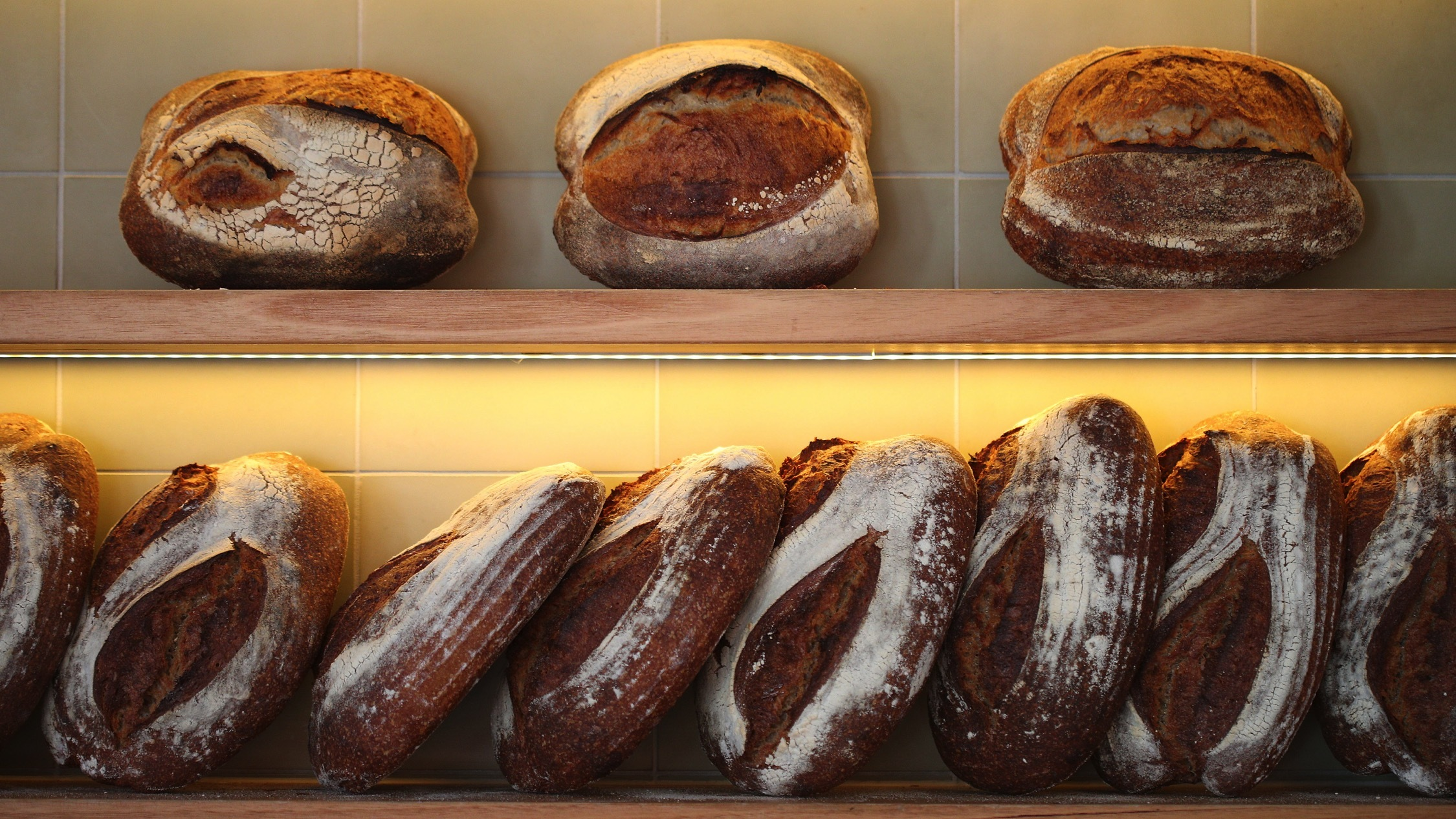 Bread loaves at Wildlife Bakery