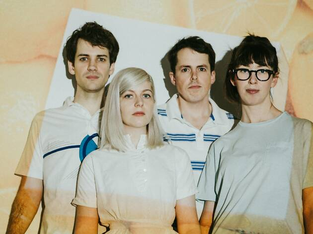 Canadian pop band Alvvays members standing together