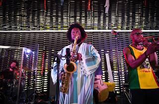 O saxofonista Kamasi Washington