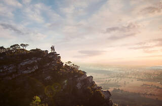 Couple standing on Mount Sturgeon