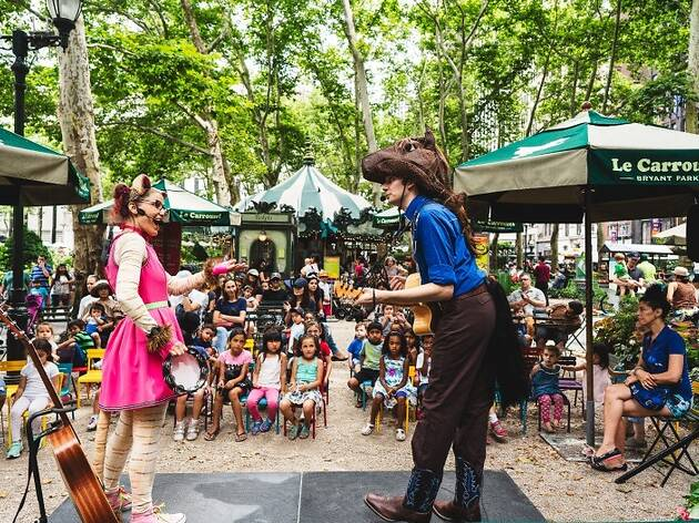 These FREE Bryant Park activities for kids start up soon, and we can't wait